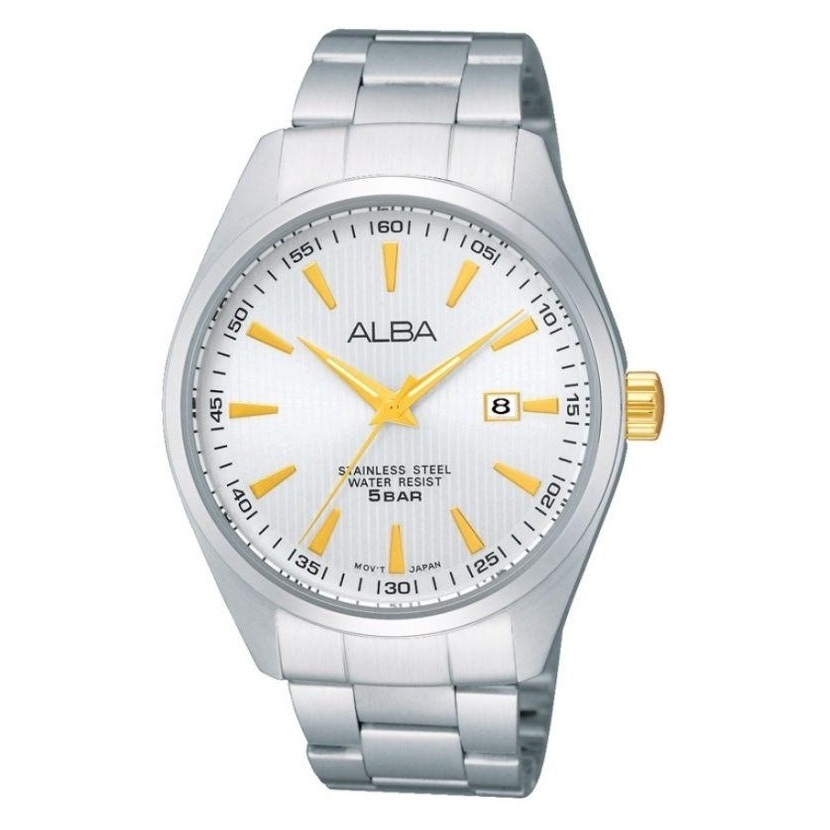 Alba Men Silver Dial Stainless Steel Strap - AG8385X1 - One Size