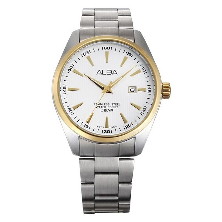 Alba Men Silver Dial Stainless Steel Strap - AG8392X1 - One Size