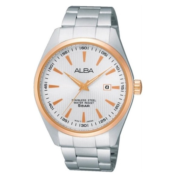 Alba Men Silver Dial Stainless Steel Strap - AG8396X1 - One Size