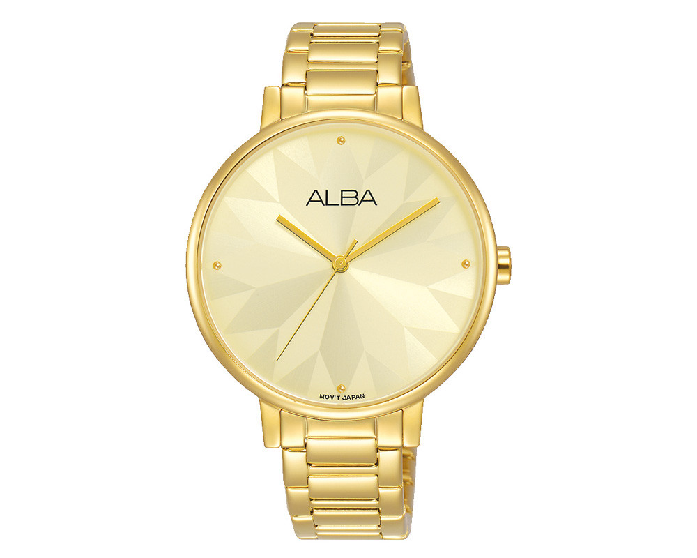 ALBA Ladies Stainless Steel Bracelet And Light Champagne Dial AH8540X1