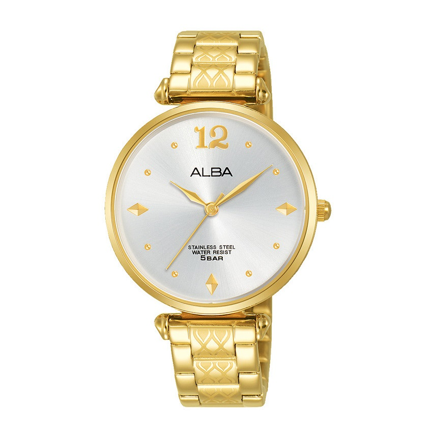 ALBA Ladies' Hand Watch FASHION Stainless Steel Bracelet and Silver White Dial AH8554X1